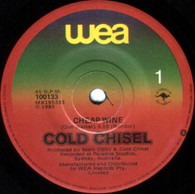 COLD CHISEL  -   Cheap wine/ Rising sun (G7649/7s)