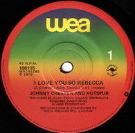 CHESTER,JOHNNY & HOTSPUR  -   I love you so Rebecca/ Simple kind of fella (G79100/7s)