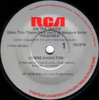 HAMILTON,LYNNE  -   On the inside (main title theme from 'Prisoner')/ Love theme from 'Prisoner' (G79219/7s)