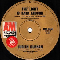 DURHAM,JUDITH  -   The light is dark enough/ Wanderlove (82153/7s)