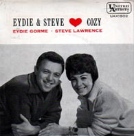 LAWRENCE,STEVE & EYDIE GORME  -  COZY A fine romance/ Personality/ Two sleepy people/ Blue room (G34358/7EP)
