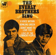 EVERLY BROTHERS  -  EVERLY BROTHERS SING A voice within/ Bowling green/ I don't want to love you/ Love of the common people (G83582/7EP)