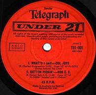 VARIOUS  -  SUNDAY TELEGRAPH : UNDER 21 Col Joye - What'd I say/ Rob E.G. - Cotton pickin'/ Delltones - Shut down/ Joy Boys - Highway 69 (82514/7EP)