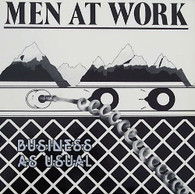 MEN AT WORK  -  BUSINESS AS USUAL  (G81883/LP)