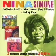 SIMONE/NINA - FORBIDDEN FRUIT + NINA SINGS ELLINGTON + FOLKSY NINA (2CD)    (UKCD9086/CD)