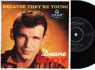 EDDY,DUANE  -  BECAUSE THEY'RE YOUNG Because they're young/ Easy/ Rebel walk/ The battle (G145571/7EP)