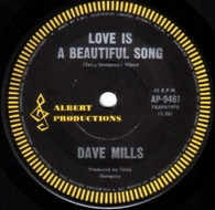 MILLS,DAVE  -   Love is a beautiful song/ Beyond doubt (G34175/7s)