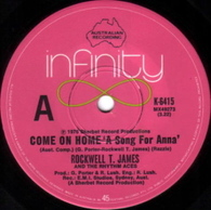 JAMES,ROCKWELL T.  -   Come on home 'A song for Anna'/ Belinda (G61246/7s)