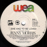 MORRIS,JENNY  -   She has to be loved/ Conscience (G63238/7s)