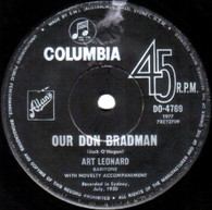 LEONARD,ART   -   Our Don Bradman/ Our eleven (G64990/7s)
