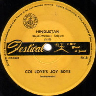 JOY BOYS  -   Hindustan/ Feelin' blue (G65109/7s)
