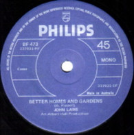 LAWS,JOHN  -   Better homes and gardens/ You didn't have to be so nice (G75255/7s)