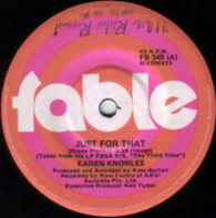 KNOWLES,KAREN  -   Just for that/ What will I write (G76170/7s)