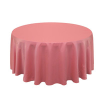 120 inch L'amour Satin Round Tablecloth Coral