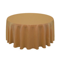 120 inch L'amour Round Tablecloth Gold | Wholesale Wedding Tablecloths
