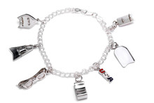 SWIM BRACELET WITH 6 CHARMS