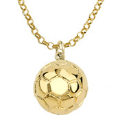 "16mm (approx.5/8""diameter) soccer ball pendant"