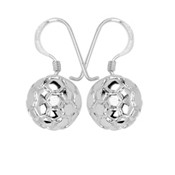 SOCCER BALL DANGLE EARRINGS