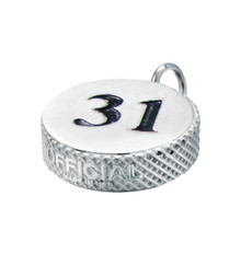 HOCKEY PUCK NUMBER PENDANT