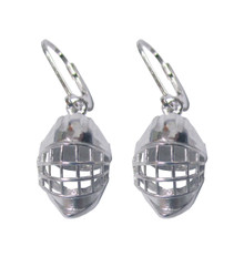 HOCKEY GOALIE HELMET DANGLE EARRINGS