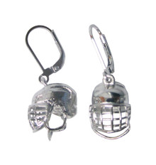 HOCKEY HELMET DANGLE EARRINGS