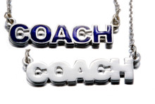COACH HORIZONTAL PENDANT W/ CHAIN