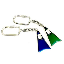 LARGE METAL SWIM FIN KEY CHAIN