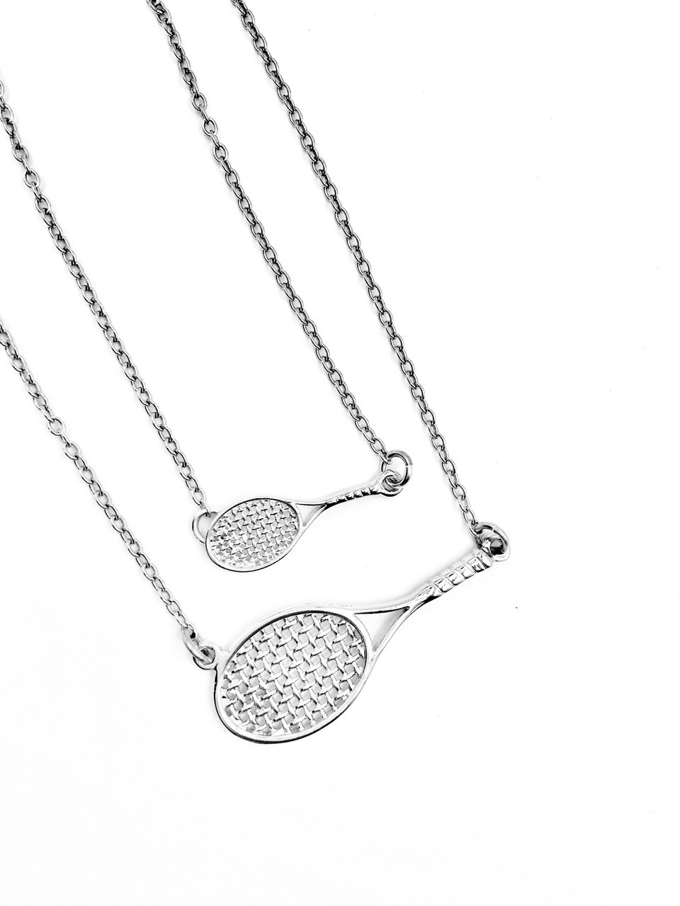 GiftJewelryShop Bronze Retro Style Olympics Tennis Ball and Racket Dots Flower Pendant Necklaces #20