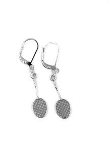 BADMINTON RACQUET EARRINGS