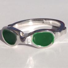 Goggle Ring W/enamel