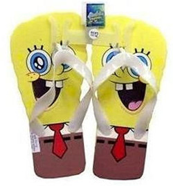 New Sponge Bob Flip Flops Beach Style Sandals Slippers- Women Shoe Size