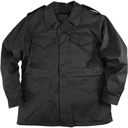 Alpha Industries M-43 US Army Styled Replica Field Jacket Black Mens Woven Uniformed Jacket Coat