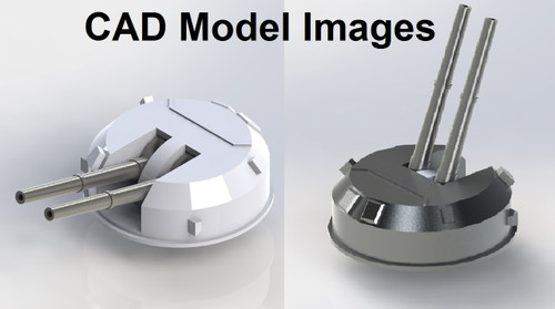 CAD Images Guns can be elevated to any angle