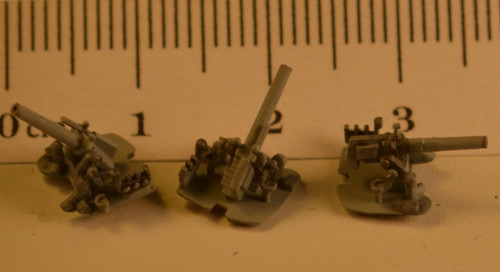 Painted and assembled examples- Detailed loading machine, crew positions, and gun