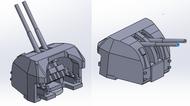 1/700 RN Twin 4-Inch Guns  (Mk IX mount)  - 4 pcs