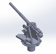 1/700 RN Single 4-Inch AA Guns  - 4 pcs