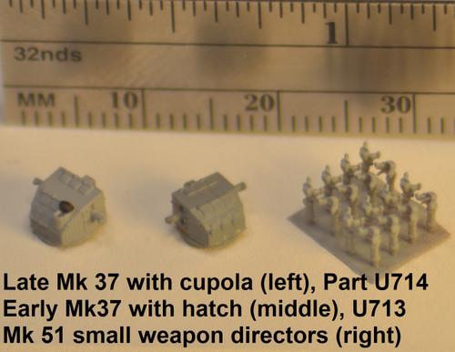 Sample parts in grey primer - Mk37's loose, Mk 51's on wafer