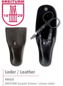 Dreiturm - 4 pc. Manicure set in Leather Pouch - 900320