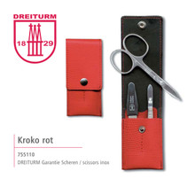 Dreiturm - 4 pc. Manicure set in Red Pouch - 755110