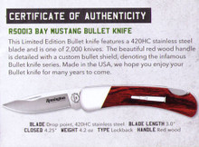 "Remington - 2018 Bullet Knife ""Bay Mustang"" lockback - R50013"