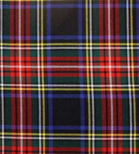 Stewart Black Modern Heavy Weight Tartan