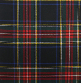 Stewart Black Modern Light Weight Tartan