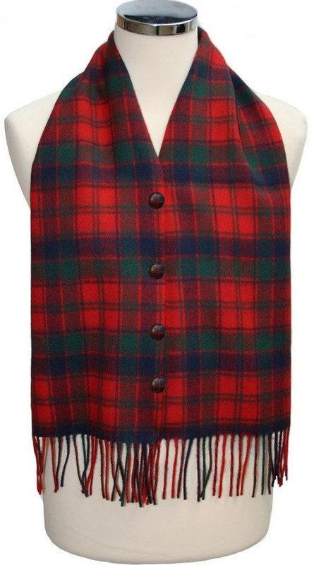 Robertson Red Waistcoat Scarf
