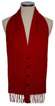 Scarlet Plain Colour Waistcoat Scarf