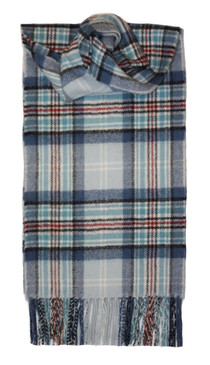 Princess Diana Memorial Tartan Lambswool Long Scarf