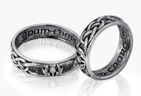 CELTIC SILVER WEDDING/COMMITMENT RING 9142