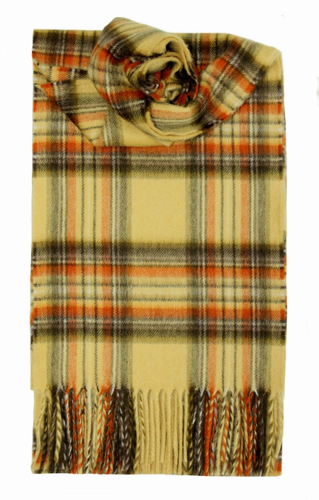 Stewart Honey Cashmere Scarf