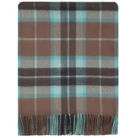 Thomson Hunting Brown Weathered Lambswool Blanket