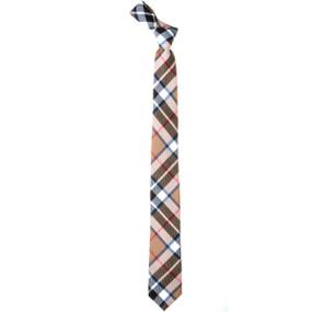 Thomson Camel Modern Slim Fit Tartan Tie