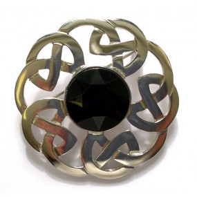 Plaid Brooch Celtic Interlace 248
